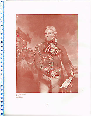General Doyle 1909 Antique British Military Print