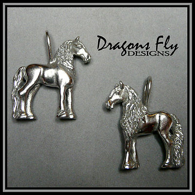 Friesian Pendant Equine Jewelry Horse Jewelry, Stainless Steel, Baroque Pendant