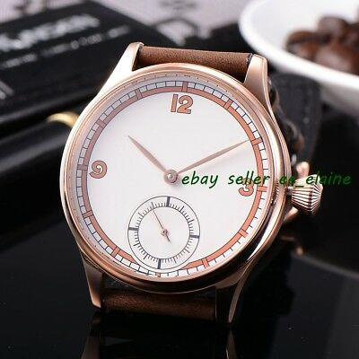 Corgeut 44mm Sterile Dial Rosegold Case Mens Hand Winding Watches WCM2002AGG02