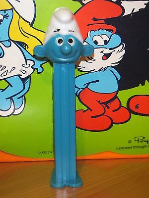 1 Pez -Schlumpf-Smurf-Blue Stem-Very Low(Combi)- Shipping!