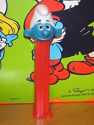 1 Pez -Schlumpf-Smurf-Red Stem-Very Low(Combi)- Shipping!