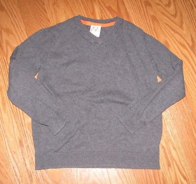 Harper Canyon Boys Light Weight Knit Gray Pullover Sweater V Neck Size 7