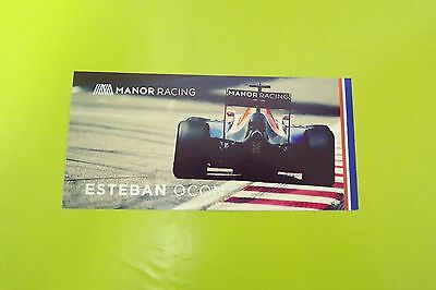 Manor Racing Esteban Ocon Driver Card