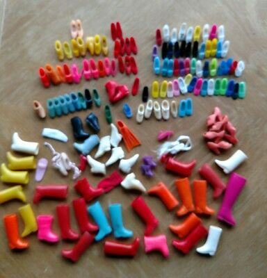 Lot of Vintage Odd Barbie Doll Shoes Marked Japan Taiwan and Korea
