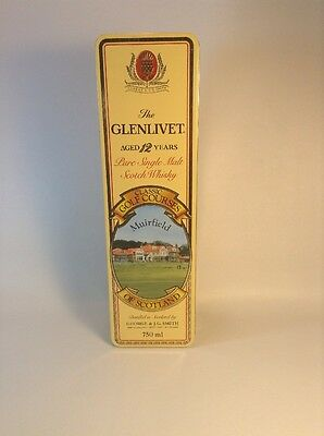 The Glenlivet Scotch Empty Classic Golf Courses Tin, Muirfield