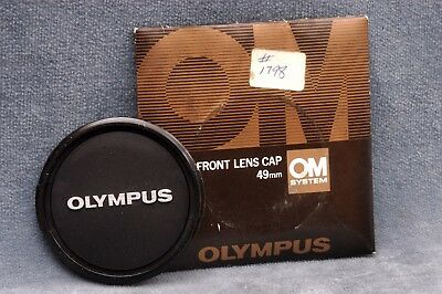 Genuine Olympus Om 49Mm Front Lens Cap, New Old Stock, Nip - Free Usa Shipping
