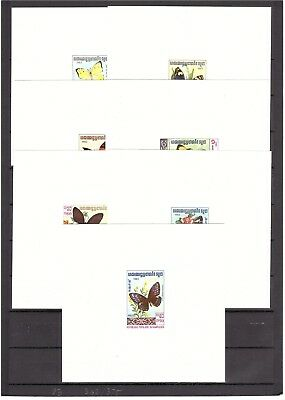 INSECTS BUTTERFLIES Cambodia 1983 set Deluxe die proof       (# 964)
