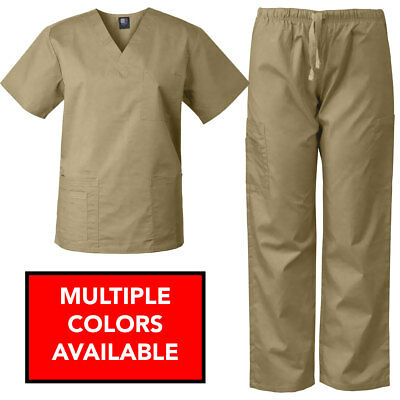 MedGear Scrubs Set Multi-Pocket Top & Pants, Eversoft Fabric, Unisex 7890NW