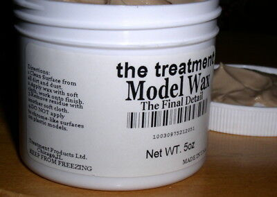 """The Treatment Model Car Wax """"The Final Detail"""" (two jars) for Pocher models etc"""