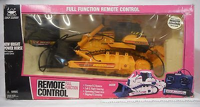 New Bright Power Horse Dozer Remote Control 1997 Digging Scooping Tested/Works!