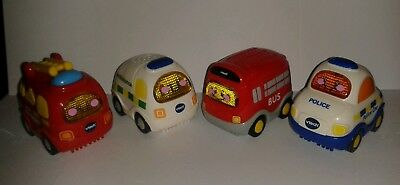 Vtech Toot Toot 4 Vehicles Bus, Fire Engine, Police Car & Ambulance