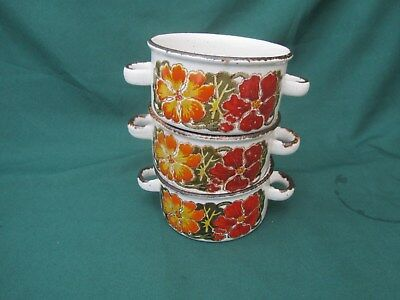 3 x Vintage midwinter Stonehenge  Nasturtium ~ Soup coupes