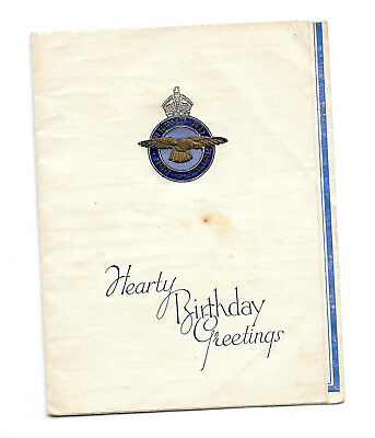Royal Air Force - Birthday Card - Embossed Insignia