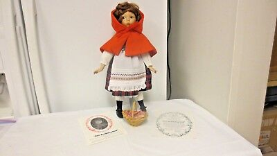 "1988 Dianna Effner 13 1/2"" Porcelain Doll-Little Red Riding Hood-1st Issue Grimm"