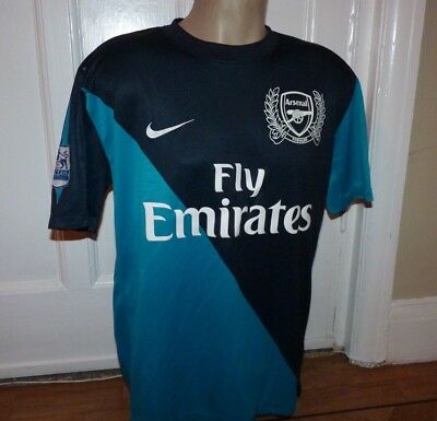 Arsenal Football Shirt Jersey Size Large 42-44 Inch Chest With Premier L Badges