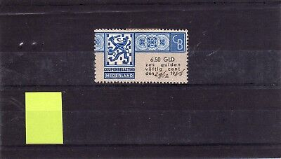 Netherlands revenue fiscal Coupon tax 6,50gld right