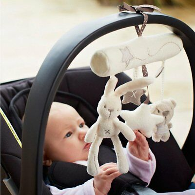 Animal Music Handbell Developmental Bed Bell Kids Baby Soft Stroller Hanging Toy