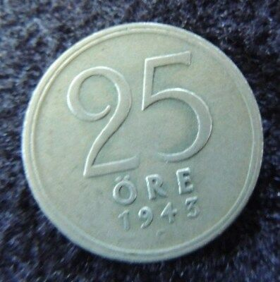 SWEDEN    1929-G     SILVER      25 Ore        KM-816            INVEST  TODAY