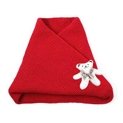 Red Teddy Bear Cowl Scarf Girl Scarves 1 -5 years