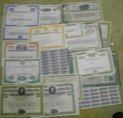 <Reduced> Any 5 Different I Choose Canceled Stock & Bond Certificates  Railroads