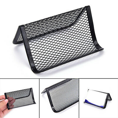 1X Black Mesh Cards Box Storage Rack Holder Tray Table Desktop Display Stands