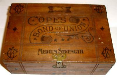 Antique Tobacco Box Cope's Bond Of Union