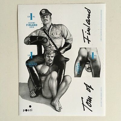 TOM OF FINLAND Finnish Stamp Set BRAND NEW gay interest leather cop FREE POSTAGE