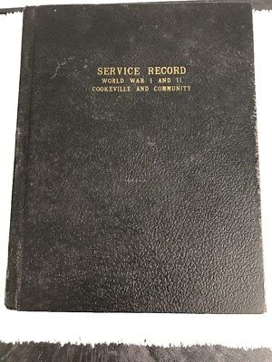 BOOK: SERVICE RECORD BOOK OF MEN AND WOMEN Of Cookeville TN (Putnam County)