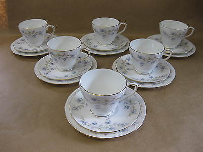 6 Pretty Vintage Duchess Cups, Saucers & Plates ~ Tranquillity ~ English China