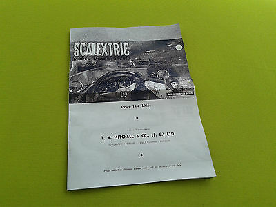 Scalextric Early Brochure+Price List Catalogue 1966 from Singapore etc
