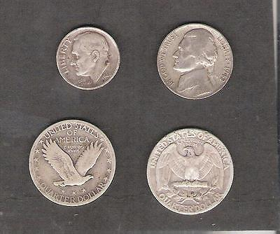 U.S.A. 4 old silver coins 22 grams
