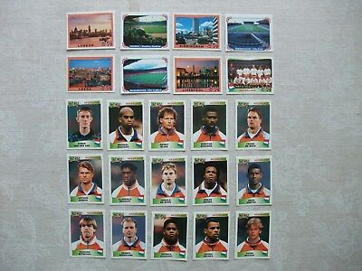 PANINI - EUROPA 96 - 63 different unused stickers (all listed)