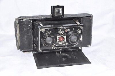 Very rare LUMIERE STERILUX French stereoscopic Camera