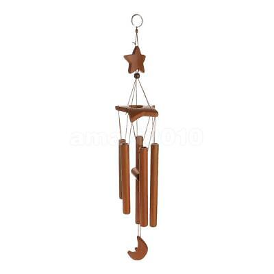 Star Decor Windchimes Wind Chime Bamboo 8 Tubes Hanging Ornament Garden Home