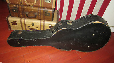 "Vintage Original Circa 1950's Gibson 17"" Archtop Case Black Excellent Condition"