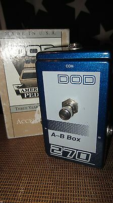 Vintage Original Circa 1980's DOD A/B Box Pedal Blue Clean w/ Box