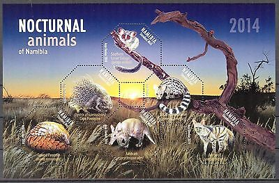 Namibia 2014 Nocturnal Animals S/S MNH**