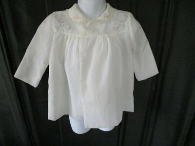 Vintage Baby Matinee Coat - Embroidery Decoration