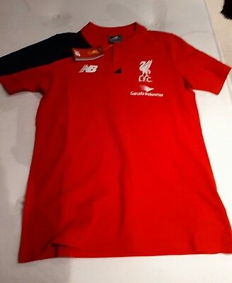 Liverpool Football Club - Red Polo Shirt by New Balance - Small - BNWT