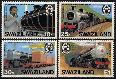 Swaziland 1984 SG#466-9 Railway Locomotives MNH Set #D58701