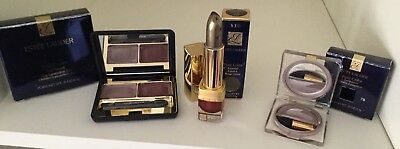 Estee Lauder Pure Colour Crystal Lipstick 330 Plum Fizz Eyeshadow Duo Amethyst