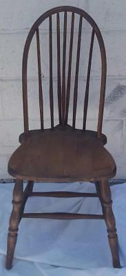 Antique Windsor Bow Back Side Chair - Solid Wood - WONDERFUL BOW BACK DETAIL