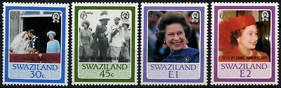Swaziland 1987 SG#537-540 Royal Ruby Wedding MNH Set #D58703