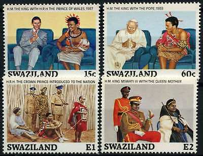 Swaziland 1989 SG#557-560 King Mswati III Birthday MNH Set #D58704