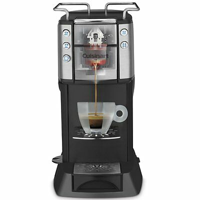 New CUISINART Illy Single Serve Espresso & Coffee Machine, EM-400C, Black/Silver