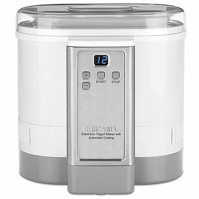 New Cuisinart Electronic Yogurt Maker with Automatic Cooling