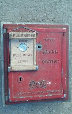 Vintage Gamewell Fire Department Alarm Station