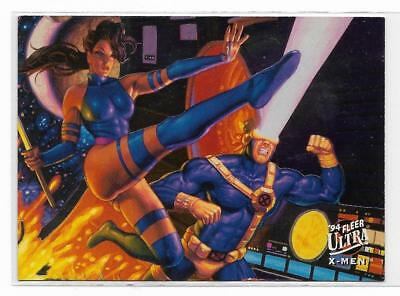 1994 Fleer Ultra X-Men Portrait ( 2 of 9 ) Piylocke / Cyclops