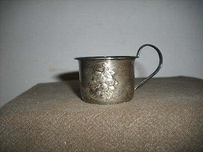 Vintage Webster Sterling Infant Cup Embossed Fruit