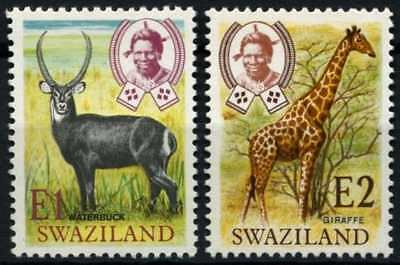 Swaziland 1975 SG#219-220 Wildlife, New Currency Definitives MNH Set #D58720